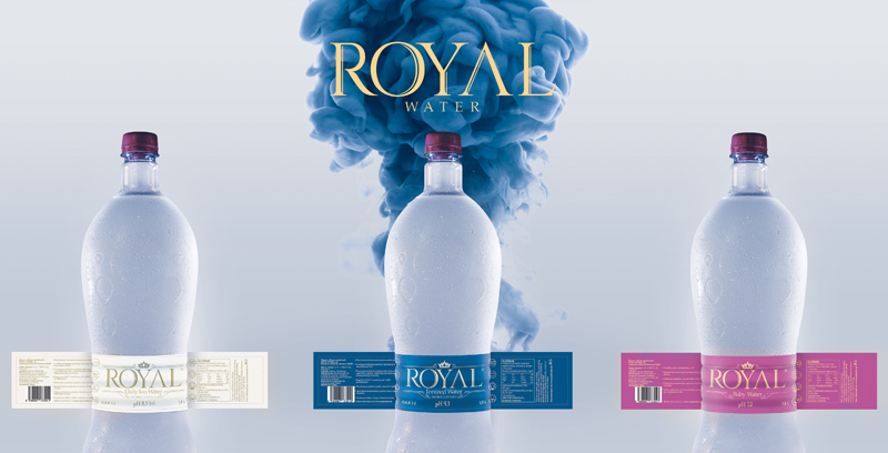 Royal water etikety
